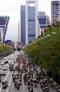 Manifestación motera Madrid 2010