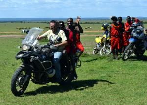 Masais-en-moto