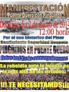 manifestacion pro Pinguinos en Puente Duero