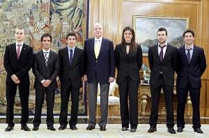Juan Carlos I, Jorge Lorenzo, Toni Elias,Marc Marquez, Laia Sanz, Toni Bou, Carlos Campano