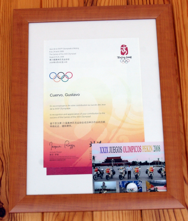 Diploma Olímpico de Pekín