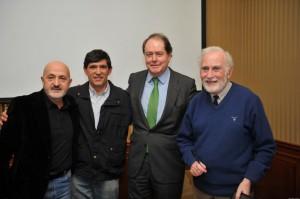 Eduardo Martinez de Pisón, Carlos Martinez Campos, Gustavo Cuervo y Sebastián Alvaro en la Sociedad Geográfica Española