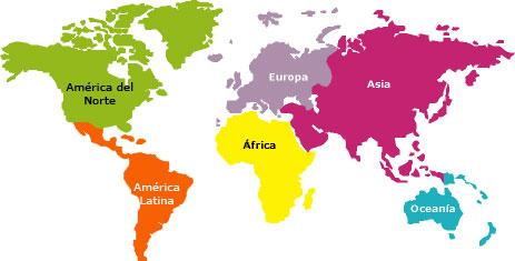 mapa continentes   Gustavo Cuervo