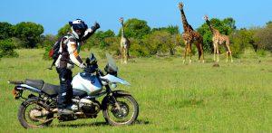 Febrero.Moto Safari Kenia. Africa
