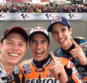 Tres campeones mundo. 2014