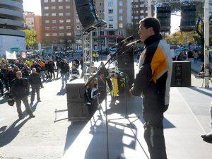 Madrid. España. Diciembre. Manifestación por la seguridad Vial