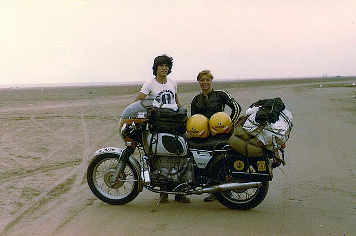 Tarragona en 1980 con la BMW R 75