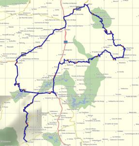Mapa ruta prueba carretera
